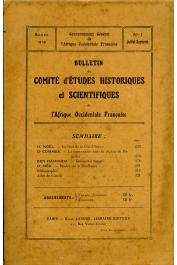 Bulletin du comité d'études historiques et scientifiques de l'AOF - Tome 02 - n°3 - Juillet-Septembre 1919 (BCEHSAOF)