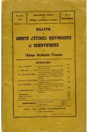 Bulletin du comité d'études historiques et scientifiques de l'AOF - Tome 03 - n°4 - Octobre-Décembre 1920