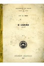 PROST André, (R.P.) - La langue logoma. Esquisse grammaticale suivie de textes et d'un glossaire