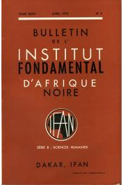 Bulletin de l'IFAN - Série B - Tome 34 - n°2 - Avril 1972