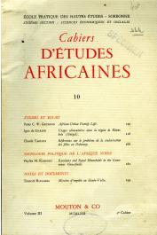 Cahiers d'études africaines - 010