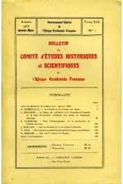 Bulletin du comité d'études historiques et scientifiques de l'AOF - Tome 19 - n°1 - Janvier-Mars 1936 (BCEHSAOF)