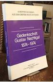 NACHTIGAL Gustave, (Dr.) - Gedenkschrift G. Nachtigal 1874 -1974. Veröffentlichungen aus dem Ubersee Museum