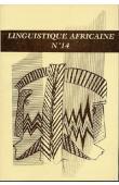 Linguistique Africaine 14 - Résultats  du Projet Haïti-Fon