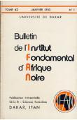 Bulletin de l'IFAN - Série B - Tome 42 - n°1 - Janvier 1980