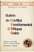 Bulletin de l'IFAN - Série B - Tome 42 - n°4 - Octobre 1980