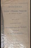 HEIM de BALZAC - Contribution à l'ornithologie du Sahara Central et du Sud Algérien