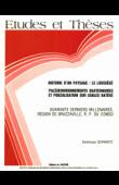 SCHWARTZ Dominique - Histoire d'un paysage, le Lousséké, paléoenvironnements quaternaires et podzolisation sur sables Batéké: quarante derniers millénaires, région de Brazzaville, R. P. du Congo