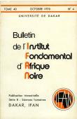 Bulletin de l'IFAN - Série B - Tome 40 - n°4 - Octobre 1978